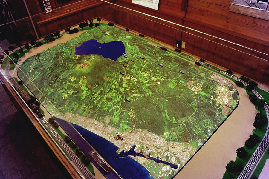 鉄道模型と広域ジオラマ