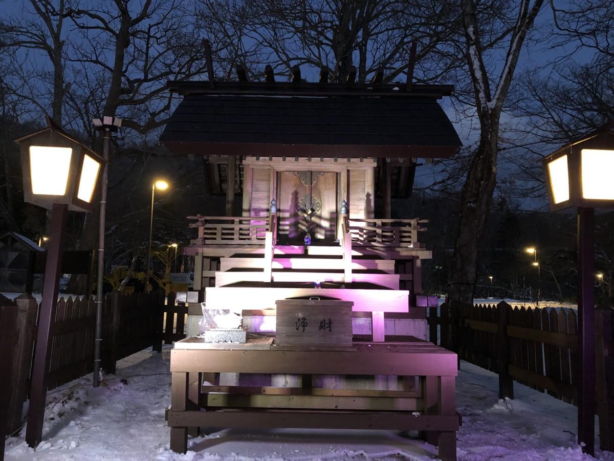 支笏湖神社ライトアップ大作戦
